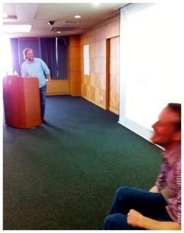 Alex Walsh (standing) & Alex Grevett (observing)