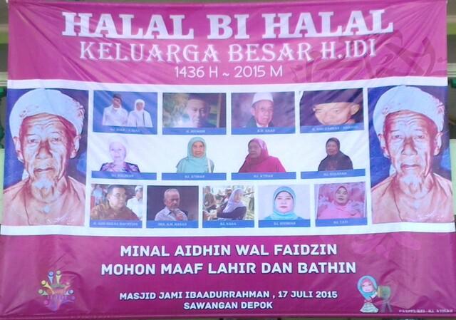Halal Bi Halal 1436 H Jum At 17 Juli 2015 Keluarga Besar H Idi