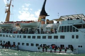 Kapal feri di Helgoland