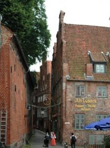Di gang-gang sempit Lübeck