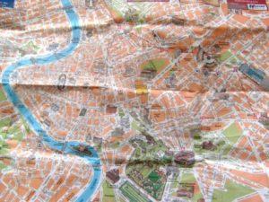 Peta wisata kota Roma