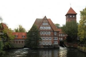 kota luneburg dekat luneburger heide