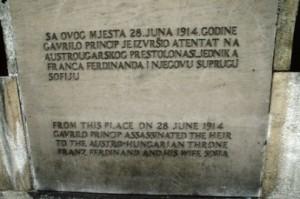 Tempat berdiri Gravilo Princip, di depan museum