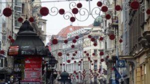 Suasana natal di Beograd, Serbia