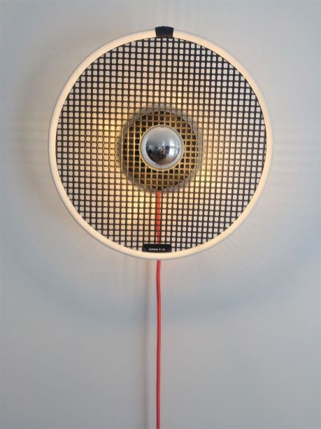 kelvin et lumen luminaires applique maille ostréicole cordon orange ampoule led culot argent