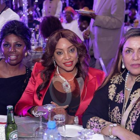 Fifi Ejindu (middle) aand other guests