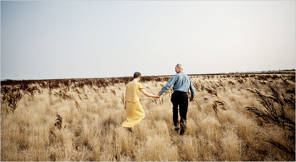 Peter Bostock and his wife _ photographed on a prairie landscape situated just north of Winnipeg Manitoba. 19/08.10 NYTCREDIT: Dustin Leader for The New York Times