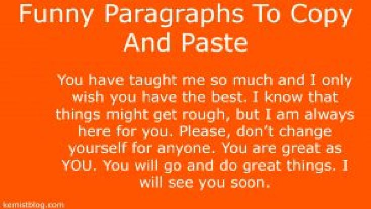 Funny Paragraphs