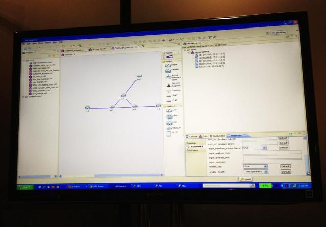 Virtual Internet Routing Laboratory screen shot.