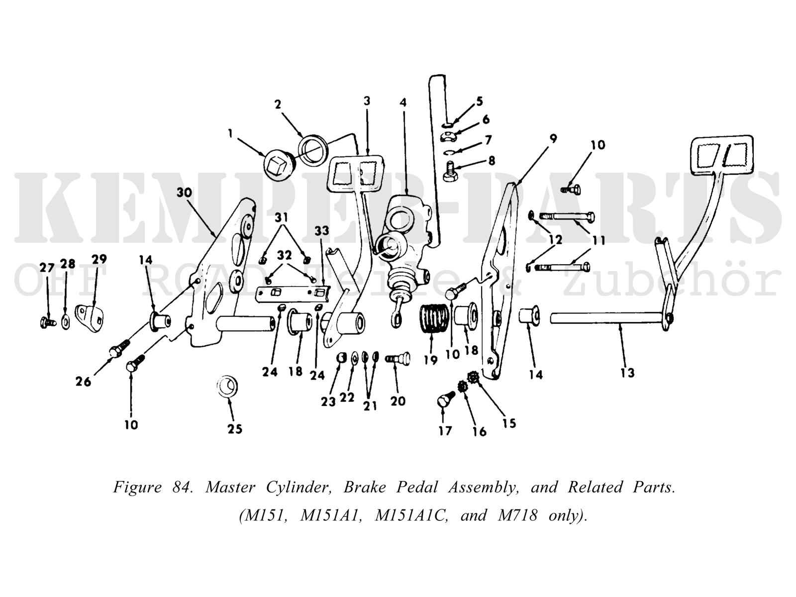 Ford Mutt M151 Master Brake Cylinder