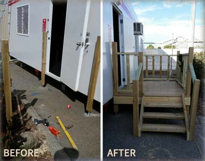 Before and after handyman works