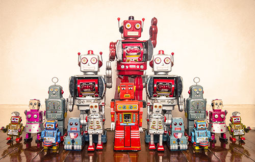 Big and little robots