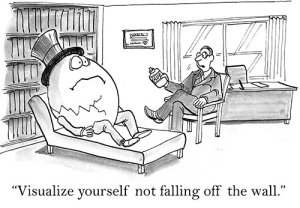 Humpty Dumpty being counselled