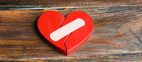 Heart with sticking plaster