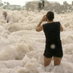 Bizarre Sea foam Storm Blankets Beach Town