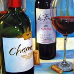 Wine Art by Pam Fandrich