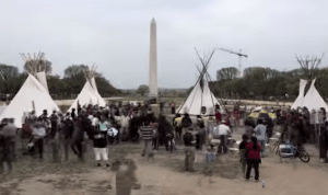 Cowboys and Indians Occupy US Capital