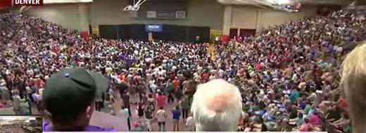 Bernie Sanders crowds