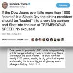 Trump Quote-Joke Dow JOANS is NOT the Dow Jones