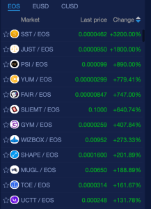 EOS coins and token