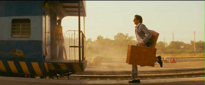 Running to catch a train