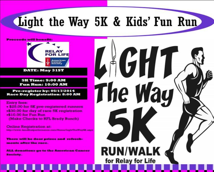 Click above image to register in the 2014 Light the Way 5K