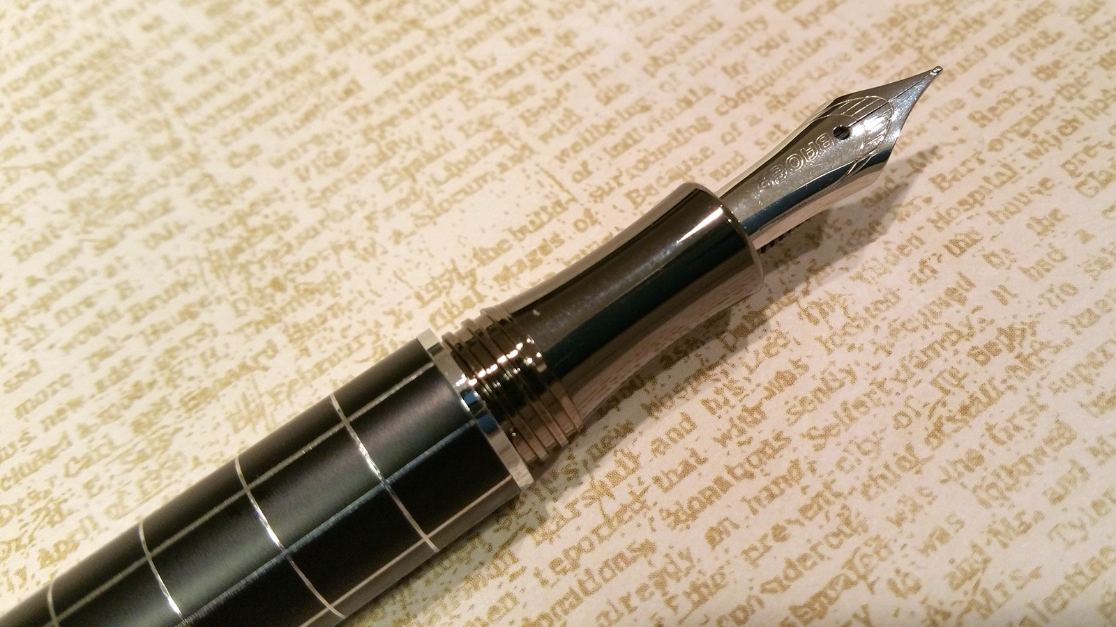 "Baoer 79 ""Skywalker"" Fountain Pen Uncapped"