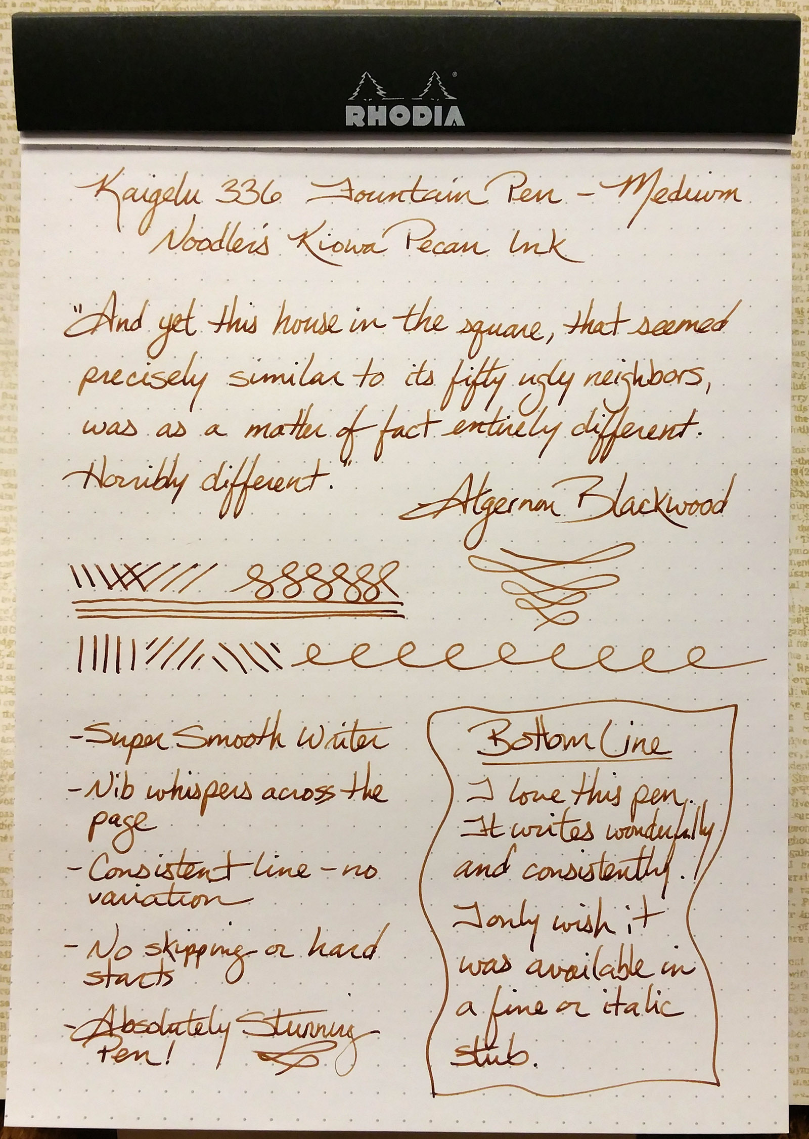 Kaigelu 336 Fountain Pen Writing Sample