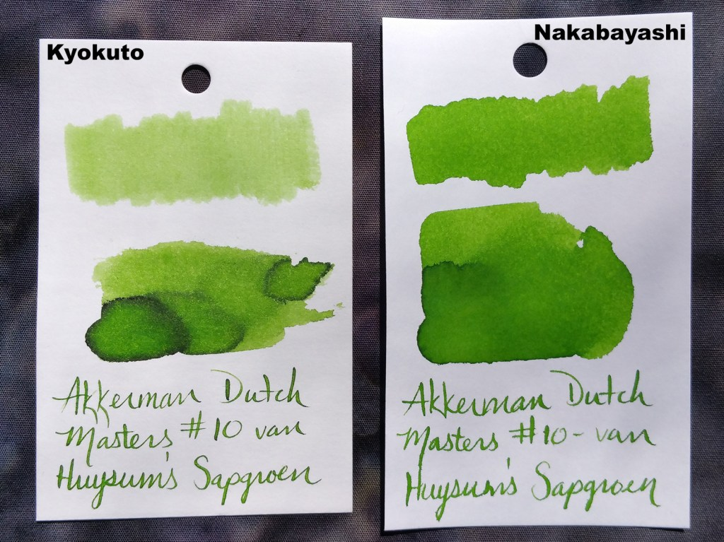 Ink Swabs on Kyokuto & Nakabayashi Word Cards