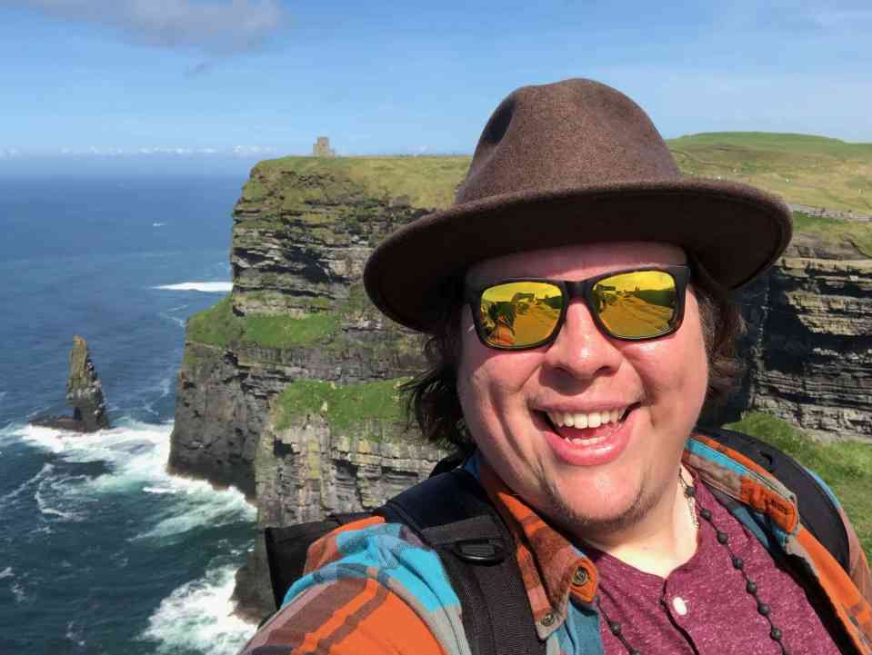 Kendell at the Cliffs of Moher, County Clare, Ireland 2018