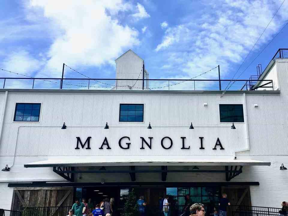 The entrance to magnoila market in waco tx
