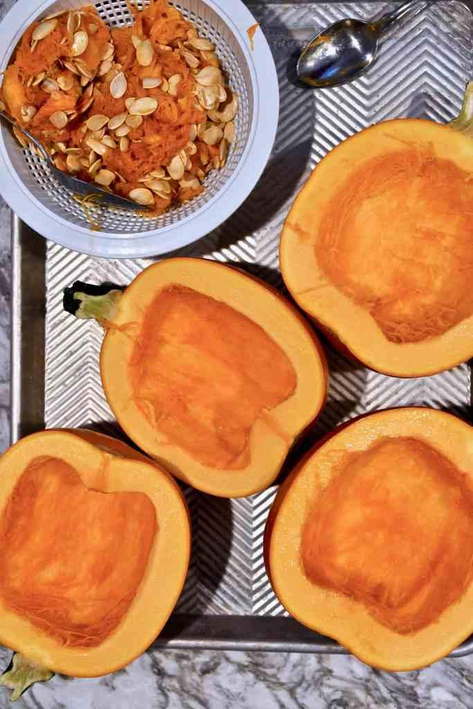 pie pumpkin seeds removed