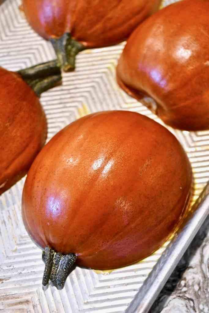 fully roasted pie pumpkin