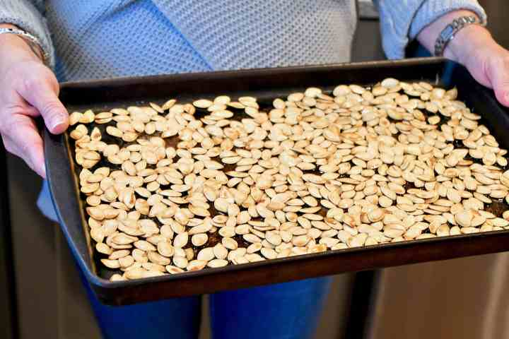 Pumpkin Seeds ready to go in the oven