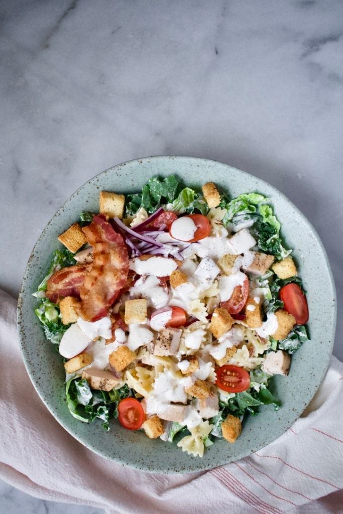 Kendell's Kale Caesar Pasta Salad