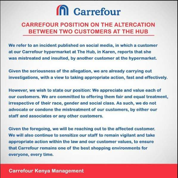 Carrefour Statement