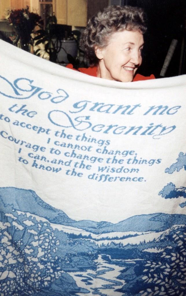 Ken Donaldson's Mom and her favorite prayer: The Serenity Prayer