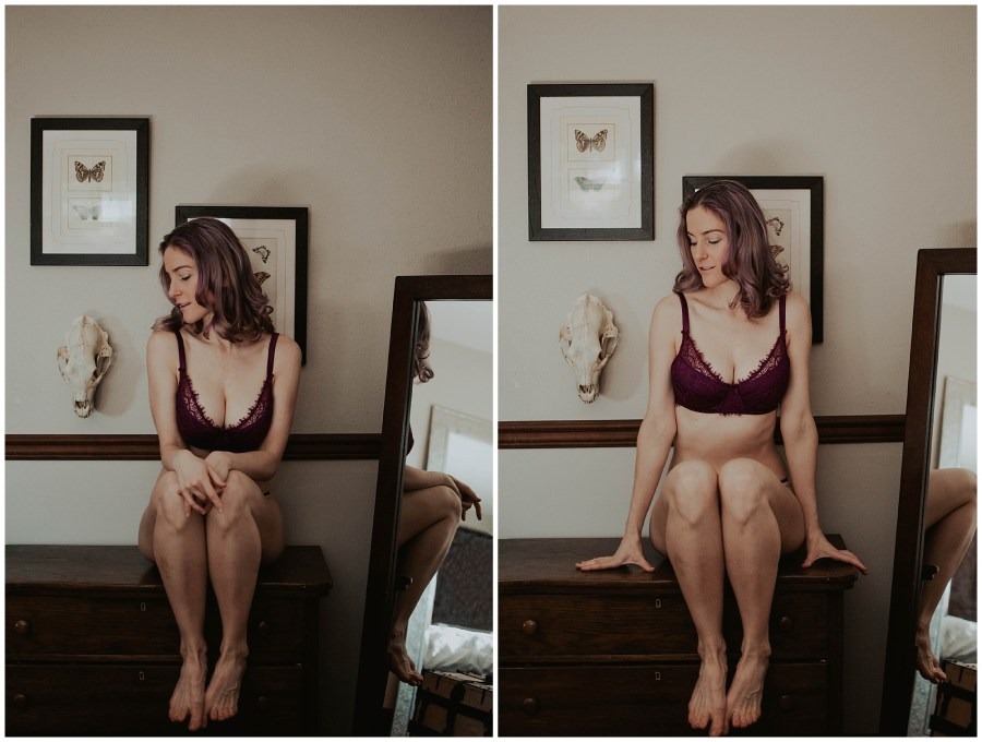 boudoir, boudoir-photographer, boudoir-photography, boudoir-photos, boudoir-session, boudoir-photoshoot, home-boudoir, wallingford-seattle, outdoor-boudoir, backyard-boudoir, bedroom-boudoir, boudoir-inspiration, purple-hair, peacock-feathers,