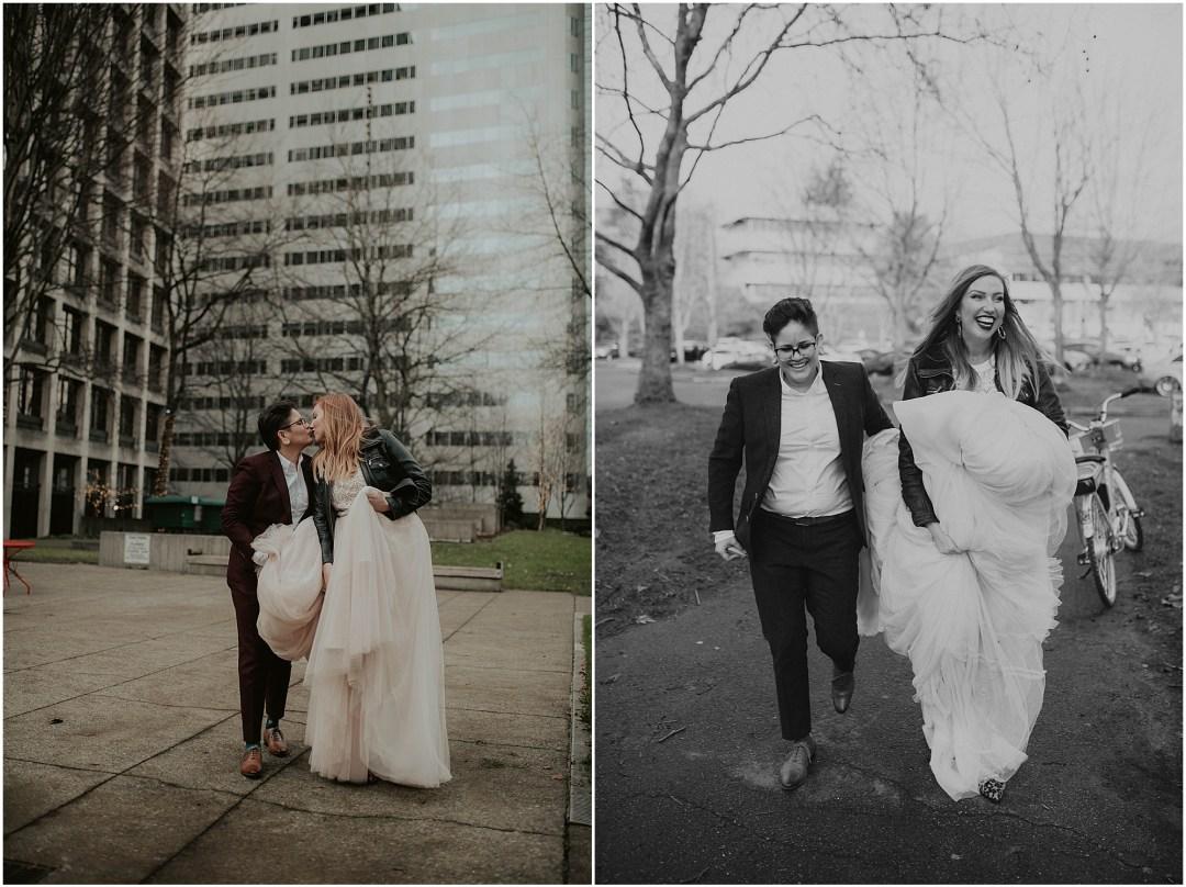 Seattle-Wedding, Seattle-Wedding-Photos, Seattle-Wedding-Photographer, Downtown-Seattle-Wedding, Gas-Works-Park, Copal, Copal-Seattle, Good-Bar-Seattle, Good-Bar, Gas-Works-Park-Wedding-Photos, Washington-Wedding, Bride-Bride, LGBTQ-Wedding-Photographer, Bride-And-Bride, Gay-Wedding, RV-Weddings, Downtown Seattle, Washington-Wedding-Photographer, Brides, Brides-To-Be, Pink-Wedding-Dress,