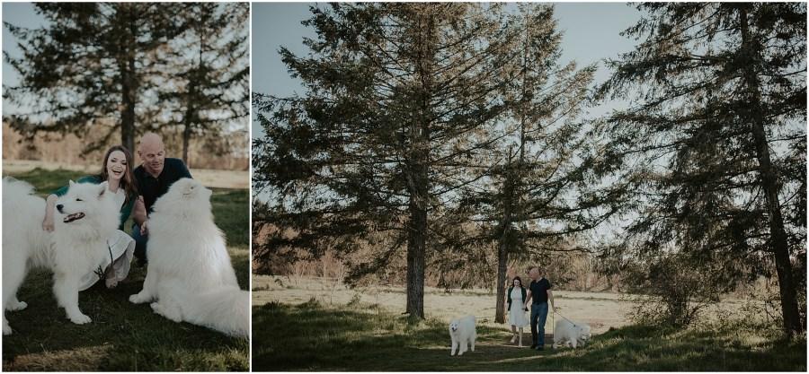 Seward-Park, Seattle-Engagement-photos, Engaged, Engagement-photos, Engagement-Session, Engagement-Photographer, Seattle-Wedding-Photographer, dog-session, Seattle-Intimate-Wedding, Seattle-Wedding, Wedding-Photos, Seattle-Wedding-Photos, outdoor-seattle-Wedding, samoyeds, samoyed-dogs, dog-engagement-photos,