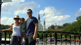 The crew posing in the French Quarter District of New Orleans. Photo/Kendra Yost