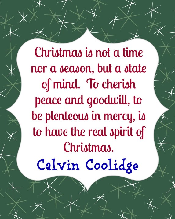 Calvin Coolidge on Christmas