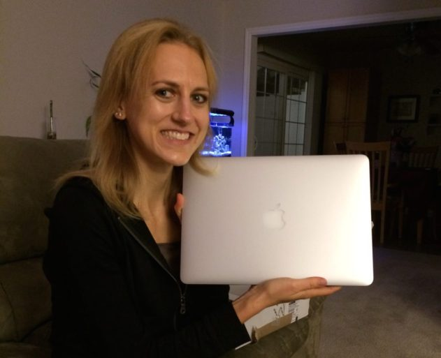 Meeting my MacBook Air for the first time!
