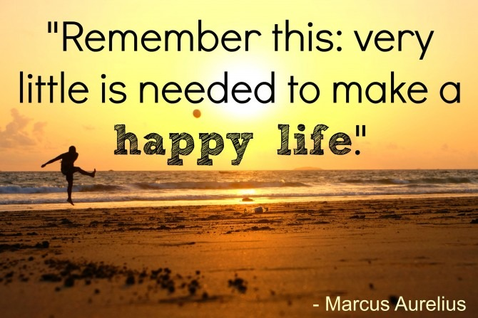Marcus Aurelius on Happiness