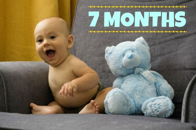 Charlie and Blue Bear  7 Months