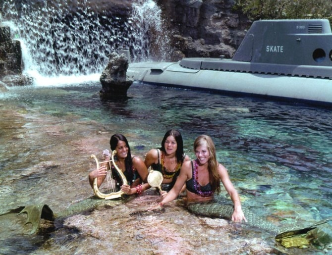 Mermaids at Disneyland's Submarine Adventure
