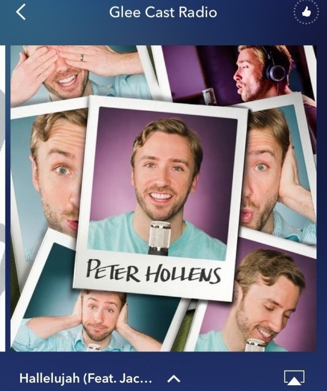 Peter Hollens on Glee Cast Radio Pandora Station