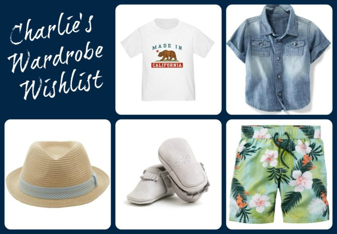 Charlie's Wardrobe Wishlist