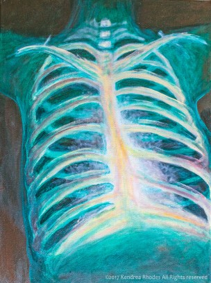 Chest X-ray oil painting ©2017 Kendrea Rhodes