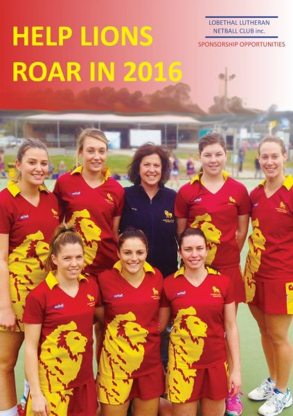 Lobethal Lutheran Lions Sponsorship Collateral created by Kendrea Rhodes